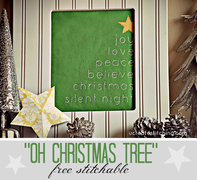 Free Stitchables at Ucreate! Oh Christmas Tree Pattern