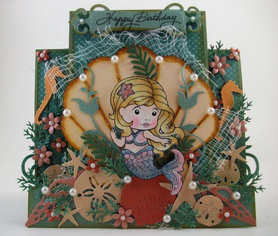 Mermaid Marci Birthday Card