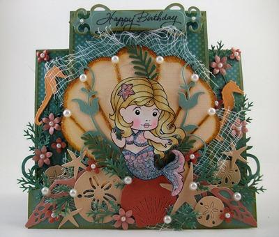 Mermaid Marci Birthday Card