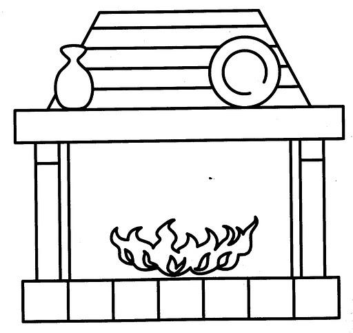 Colorear dibujos de chimeneas - Dibujos de chimeneas de navidad ...