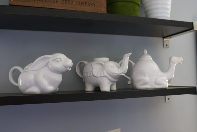 animal tea pots at Junkin Junky