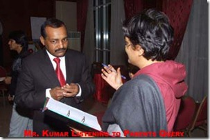 Magical Methods Training - Mr Pradeep Kumar listening to Parents Queries