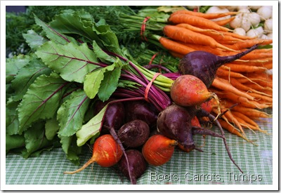 beets, carrots, turnips little seed gardens