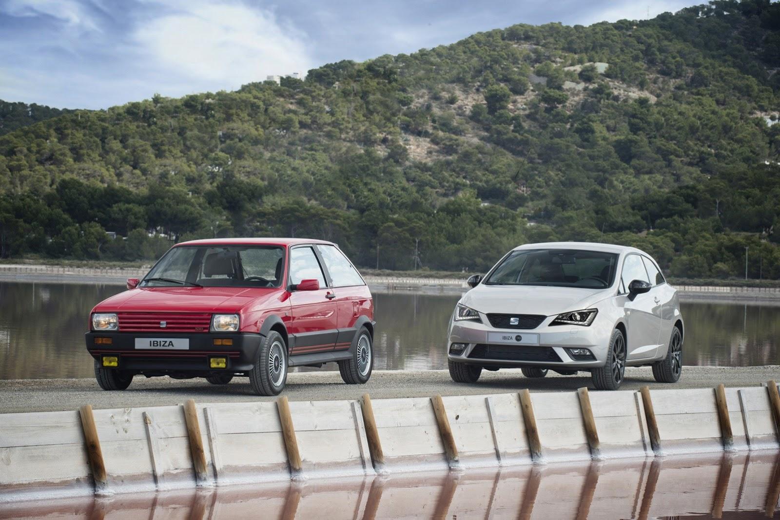 Первый SEAT Ibiza и юбилейный в честь 30-летия