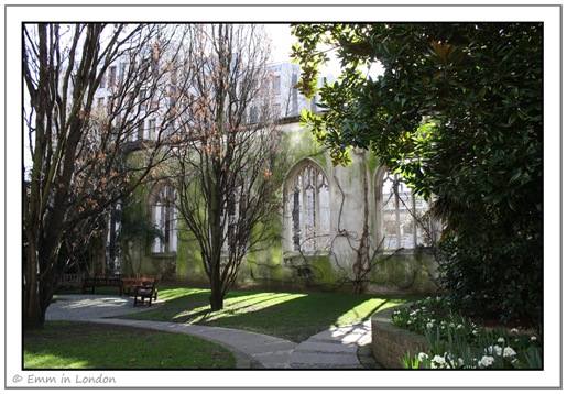 St Dunstan in the East Garden