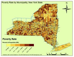 NY poverty map