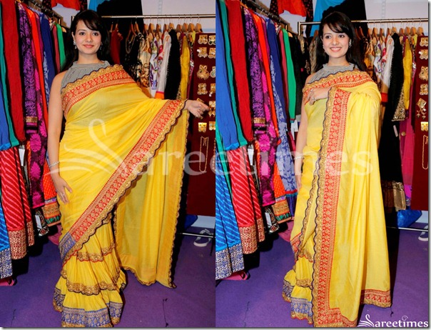 Saloni_Yellow_Saree