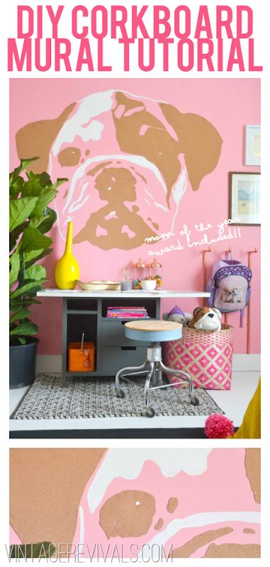 DIY Children's Corkboard Mural Tutorial