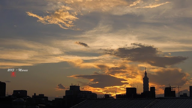 台灣 台北 蘇力颱風 日出 日落