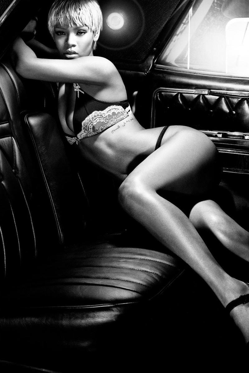 Rihanna armani shoot underwear