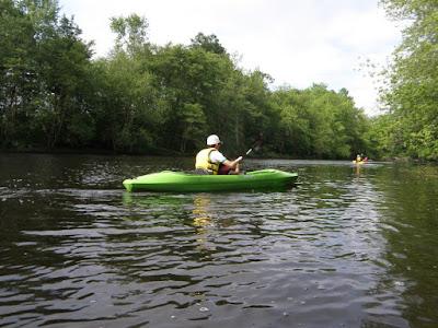 Kayakを漕ぐ