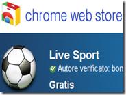 Partite di calcio in streaming e risultati in tempo reale con Live Sport per Chrome
