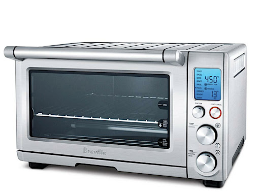 Breville also makes this Smart Oven (www.brevilleusa.com).  I chose a toaster oven over a traditional toaster because I like to toast bagels and bake small batches of cookies.  This oven does that and so much more.