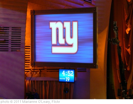 '2011 NFL Draft - Giants on the Clock' photo (c) 2011, Marianne O'Leary - license: http://creativecommons.org/licenses/by/2.0/