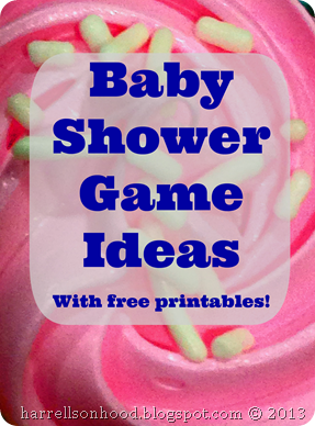 baby shower game ideas with free printables