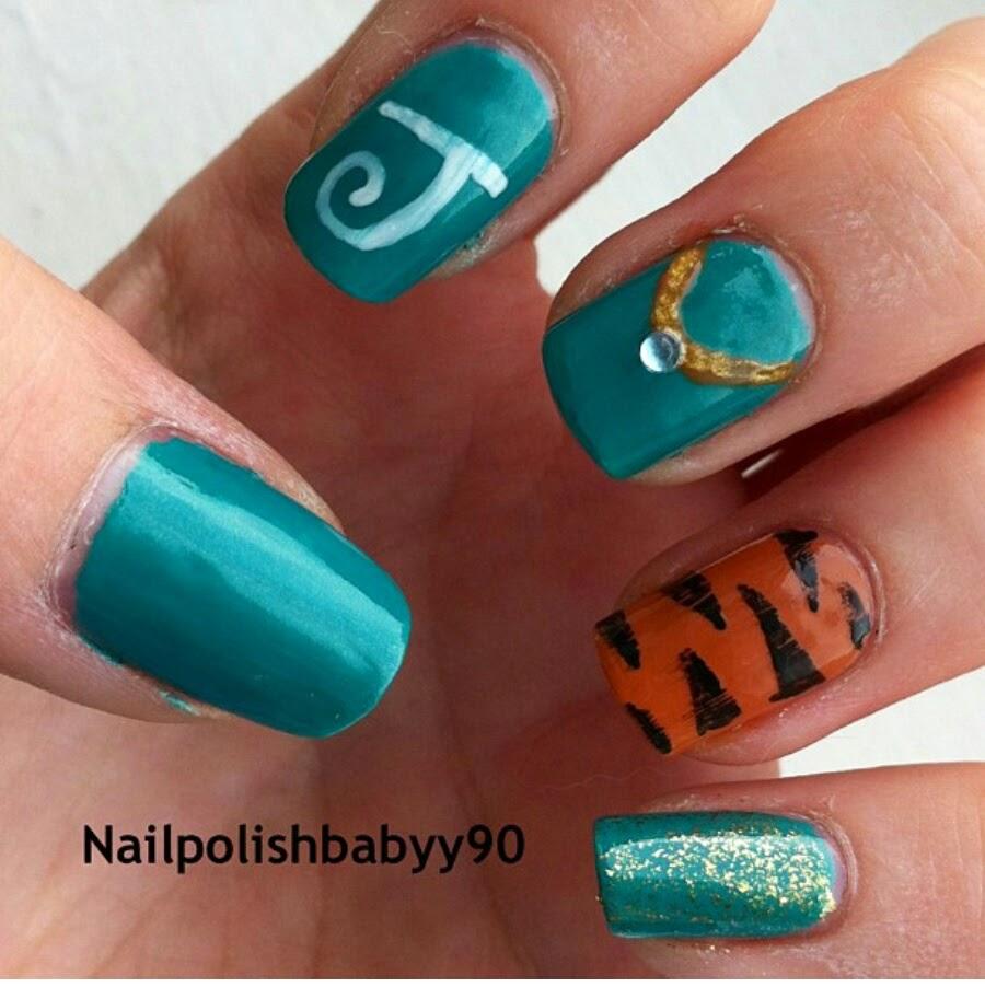 Princess Jasmine Nails: Nail Polish Babyy 90: Disney Nails Princess Jasmine