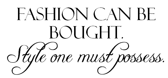 quote fashion style