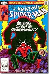 The amazing spider-man #229 al #230, la llegada de madame web a la vida de spidey solo le trajo un GRAN problema, el imparable Juggernaut arriba a los comics de spidey y no se detendra hasta que logre su objetivo.