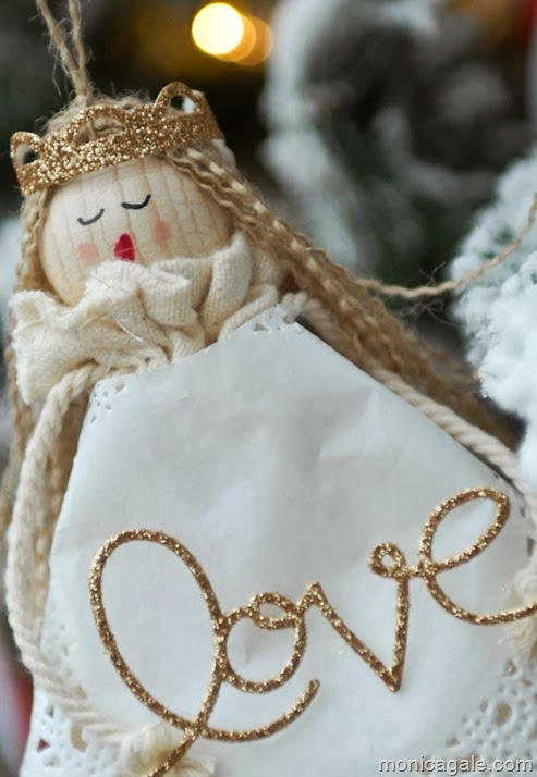 Angel made with Stampin'Up! muslin bags_