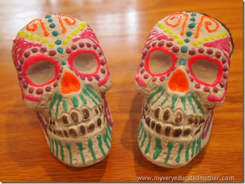 @mvemother Glow in the Dark Day of the Dead Skulls