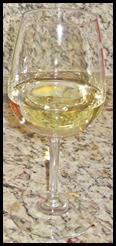Meridian glass of Chardonnay