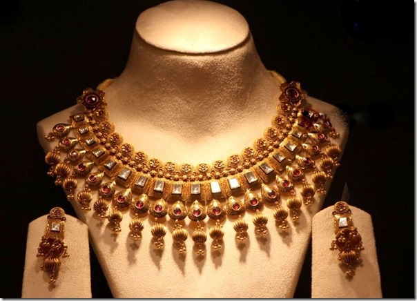jewellery indian and necklace simple gold designs heavy articles