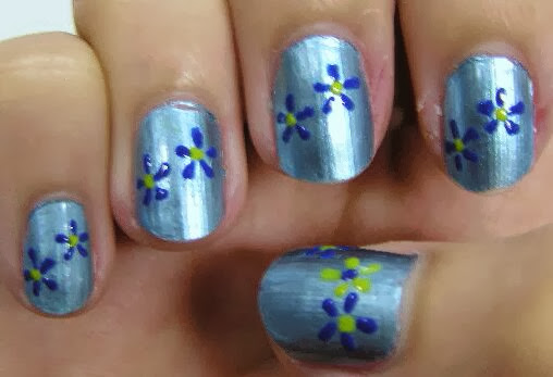 Simple Nail Designs You Can Do At Home Flower Nail Designs Easy Flower Nail Designs