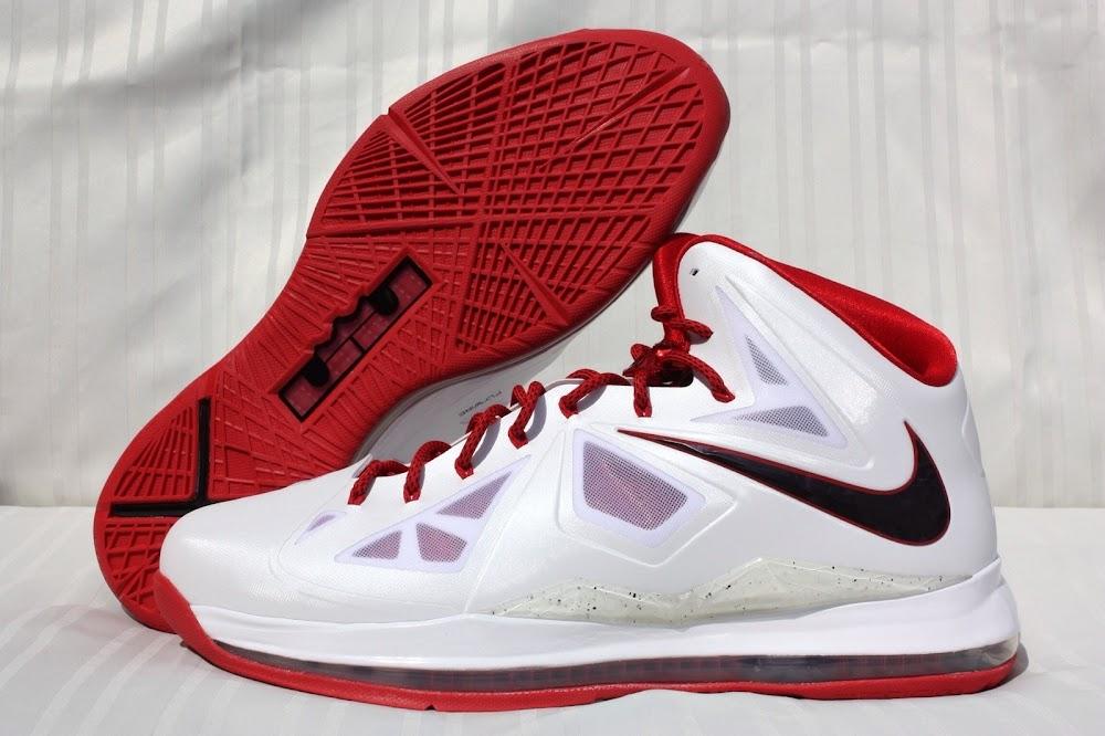 info for 276cf ee888 PE Spotlight Nike LeBron X Miami Heat 8220Red Bottom8221 Home PEs ...