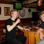 having a beer at susies saloon in Amsterdam, Noord Holland, Netherlands