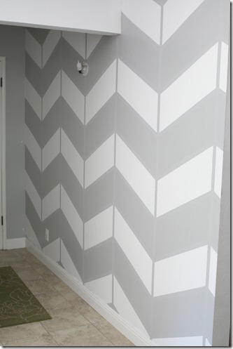 living room project, herringbone wall (3)