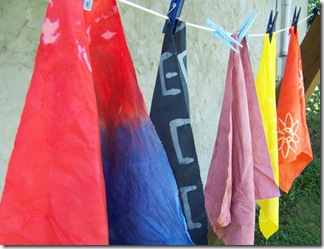 hand dyed on the line