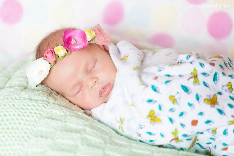 Фотосессия новорожденной Катюши