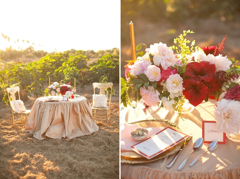 5OakandtheOwl_Red and Pink Centerpiece