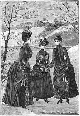 Vestidos para patinar sobre hielo 1888