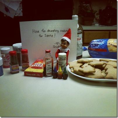 Decorating Santa Cookies