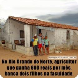 agricultor tem dois filhos na universidade com 600 reais