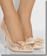 Lucy Choi Embellished Glitter Pumps