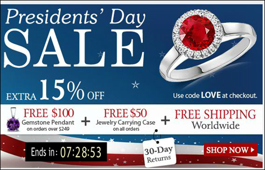 President's Day Jewelry Offer