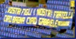 STRISCIONE PARMA ALL'OLIMPICO