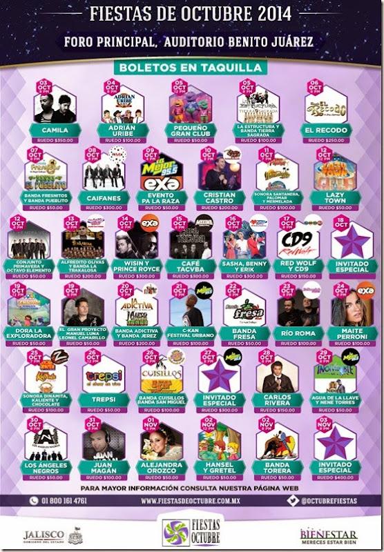 cartelera fiestas octubre 2014 oficial
