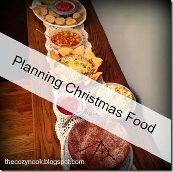 Planning Christmas Food - The Cozy Nook