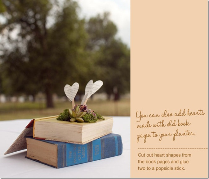 Louisville Wedding Decor - DIY Book Planter by Green Wedding Shoes (1)