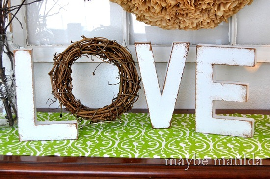 Rustic 'Love' Letters from Maybe Matilda