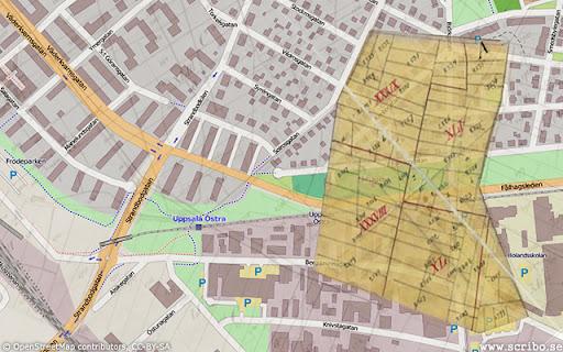 Karta med hagen Fålhagen markerad
