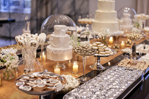 I love putting the desserts on different size trays and cake stands to add depth to the table.