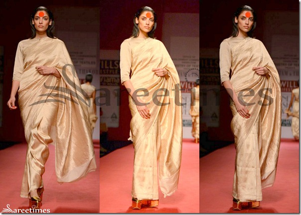 Abraham_and_Thakore_Cream_Saree
