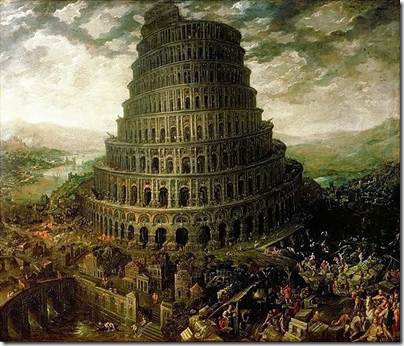 Artist rendition of the Tower of Babel