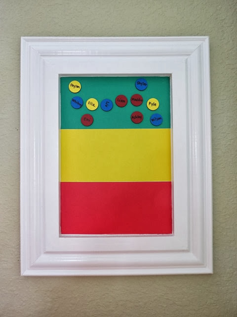 Classroom Magnetic Behavior Chart www.stylewithcents.blogspot.com