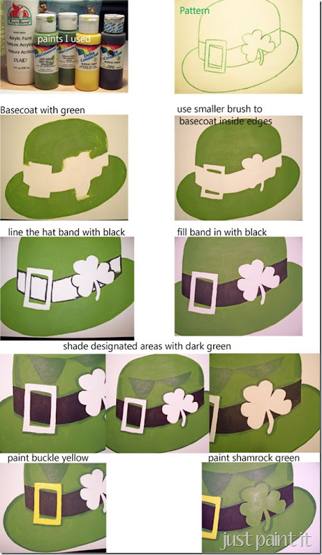 shamrock paint instructions