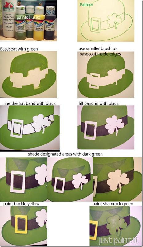 shamrock paint instructions